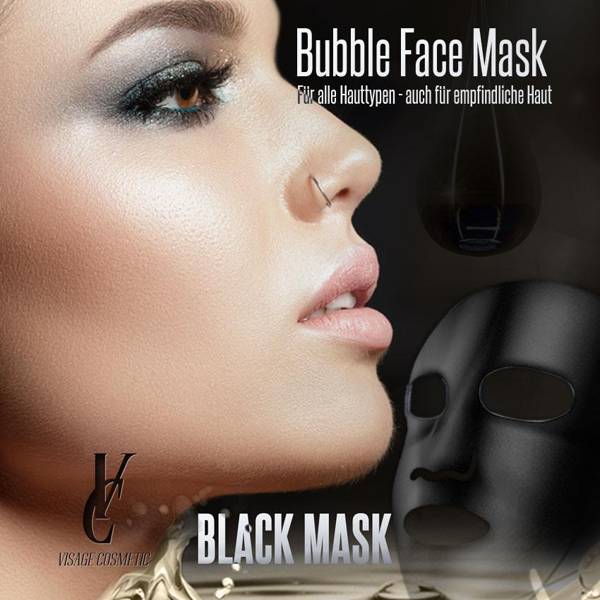 Bubble Black Mask 5Stk.